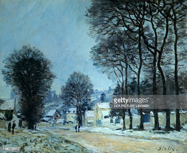 Snow at Louveciennes by Alfred Sisley London Courtauld Institute Of Art Gallery