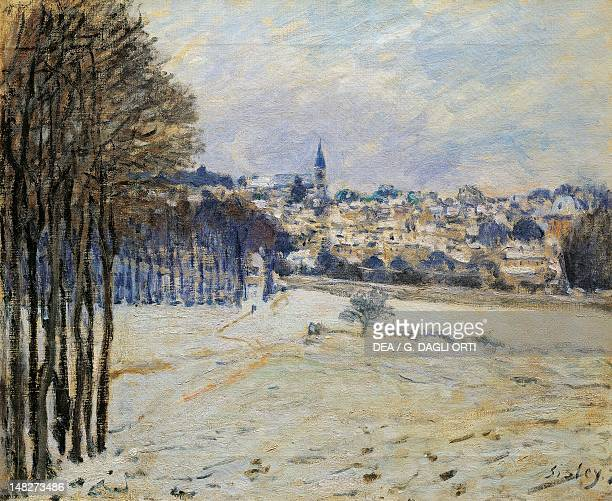 Snow at Marly Le Roi by Alfred Sisley oil on canvas 46x56 cm Paris Musée D'Orsay