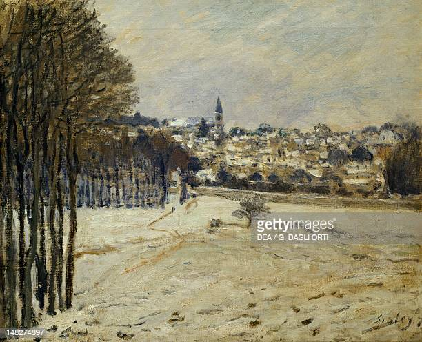 Snow at MarlyleRoi by Alfred Sisley