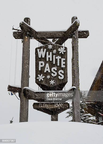 snow at white pass, washington - correction fluid stock pictures, royalty-free photos & images
