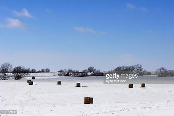 snow bales - ryan mcginnis stock photos and pictures