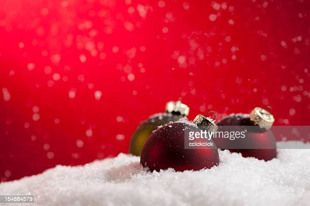 snow baubles - fake snow stock pictures, royalty-free photos & images