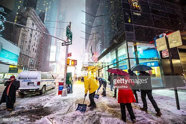 Snow Blizzard in New York, USA
