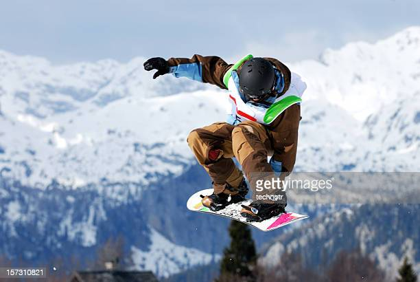 snow board competition - big air bildbanksfoton och bilder