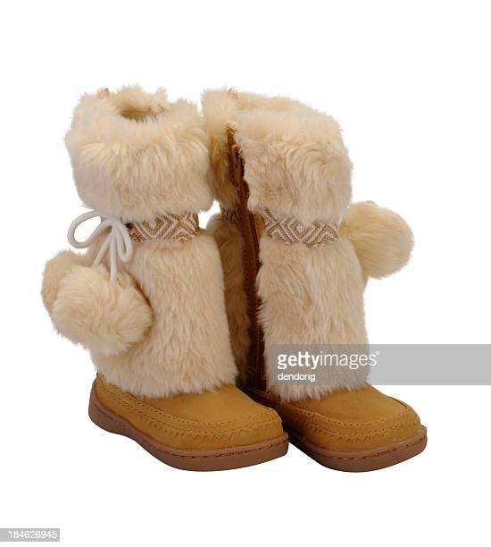 snow boot - snow boot stock photos and pictures