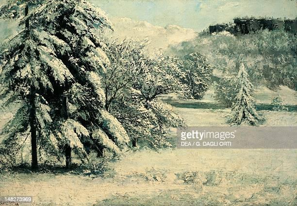 Snow by Gustave Courbet . ; Lisbon, Museu Nacional De Arte Antiga .