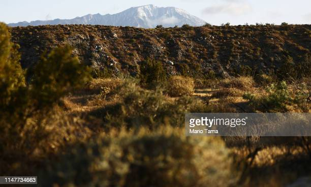 A snow capped mountain stands above the Coachella Valley on May 7 2019 in Desert Hot Springs California California's Fourth Climate Change Assessment...