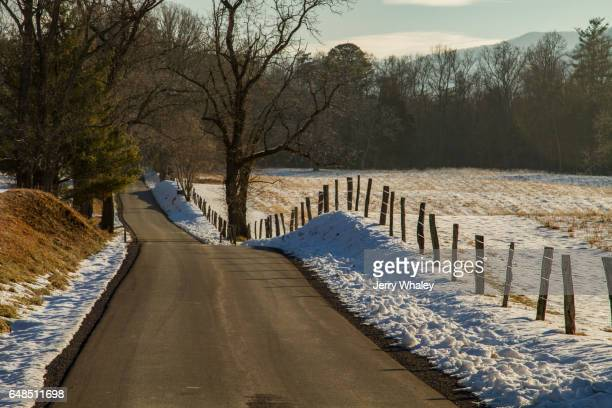Snow, Clear Road, Cades Cove, Smokies