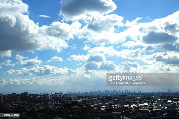 Snow clouds on Osaka city