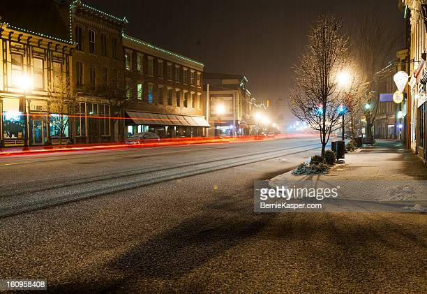 snow comes to madison - madison illinois stock photos and pictures