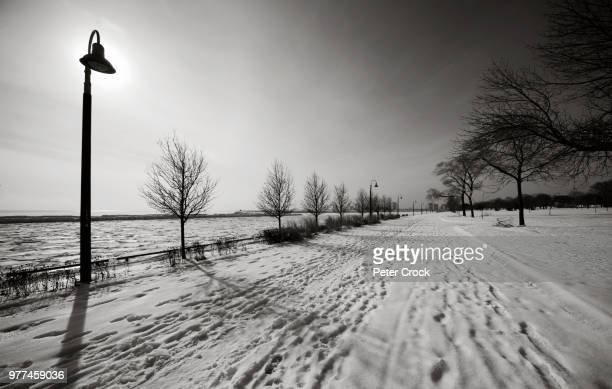 snow covered footpath - peter snow stock pictures, royalty-free photos & images