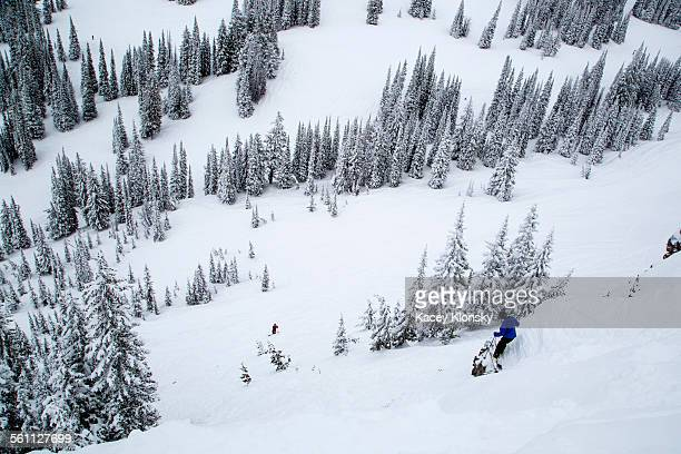 snow covered hill, jackson hole, wyoming - jackson hole stock pictures, royalty-free photos & images