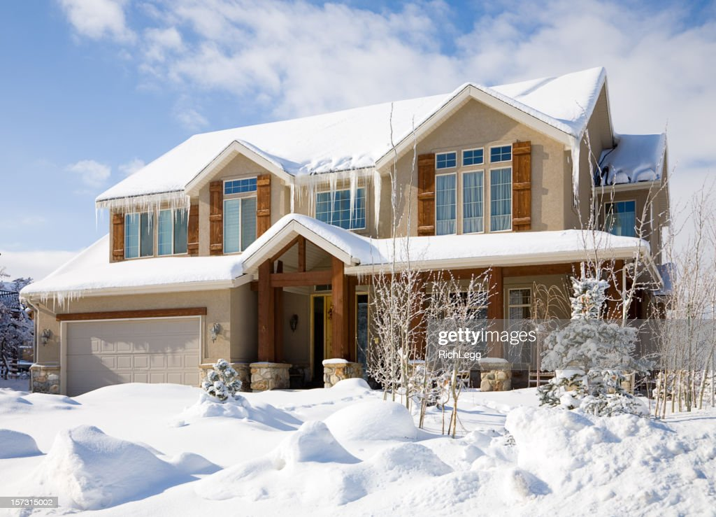 snow covered house - photo #19