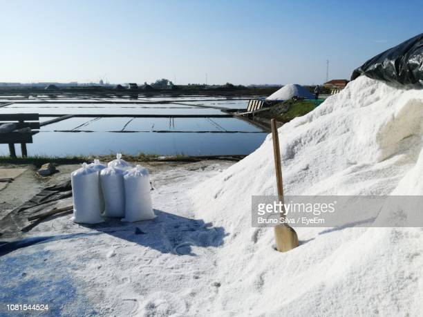 snow covered land against clear sky - アヴェイロ県 ストックフォトと画像