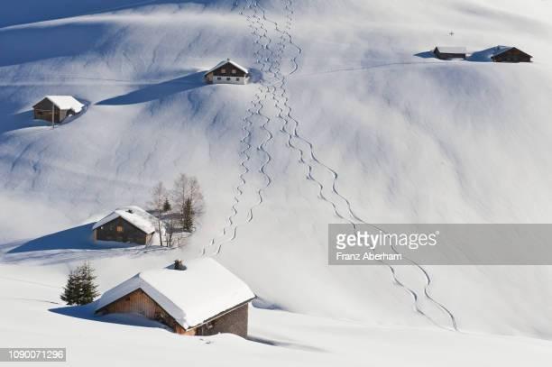 snow covered landscape - フォアアールベルク州 ストックフォトと画像