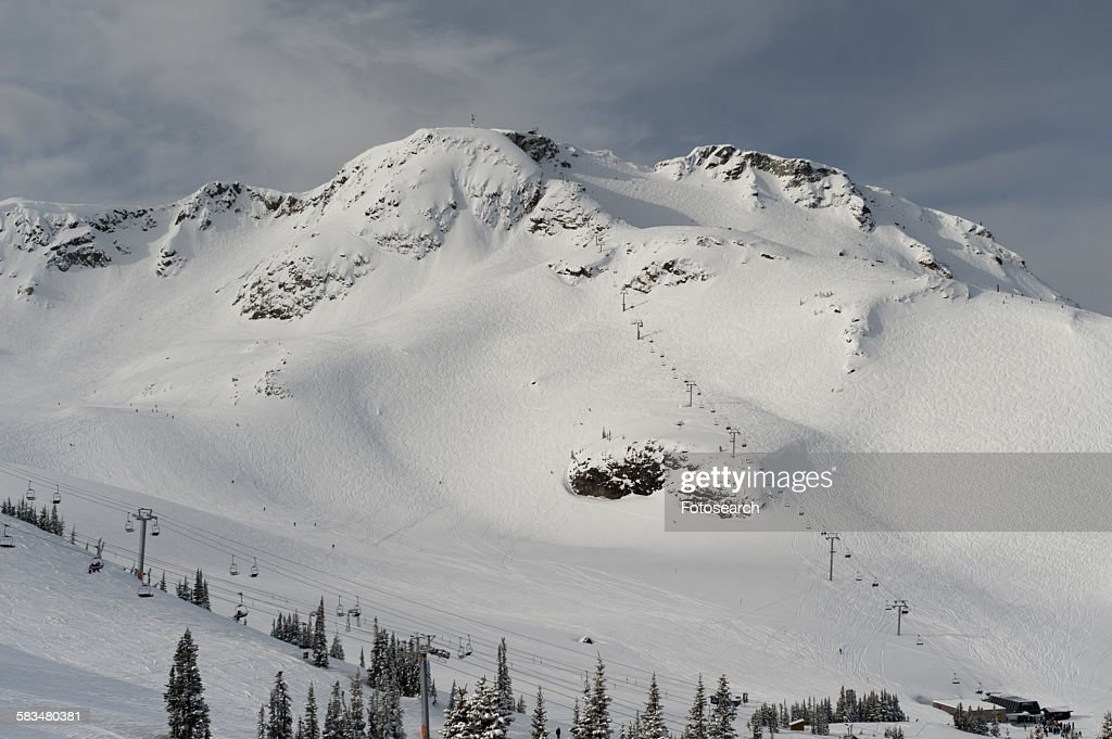 Snow covered mountains in Whistler : Stock Photo