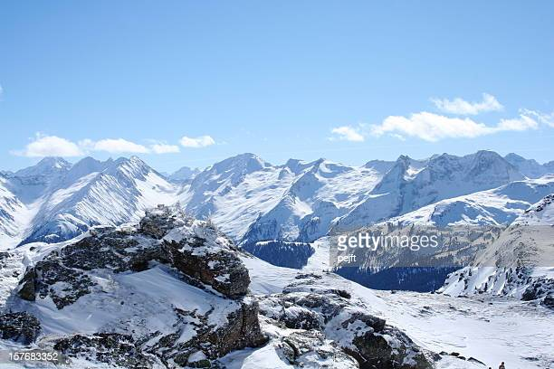 snow covered mountains - pejft stock pictures, royalty-free photos & images