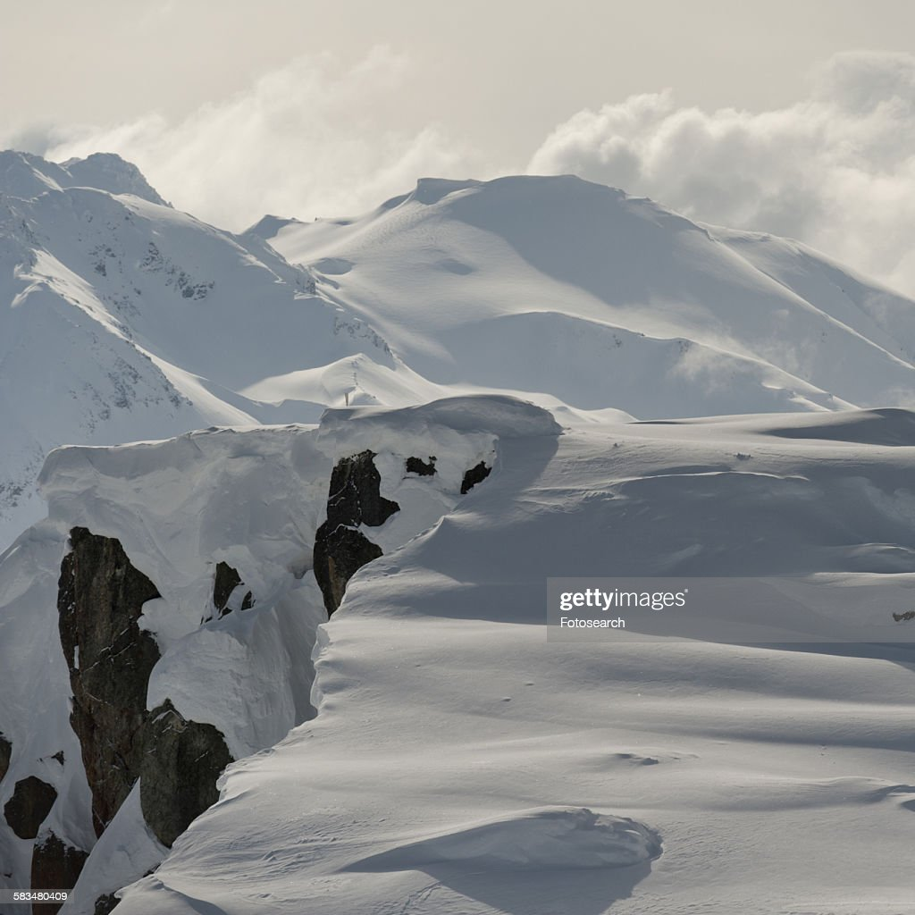 Snow covered mountains : Stock Photo