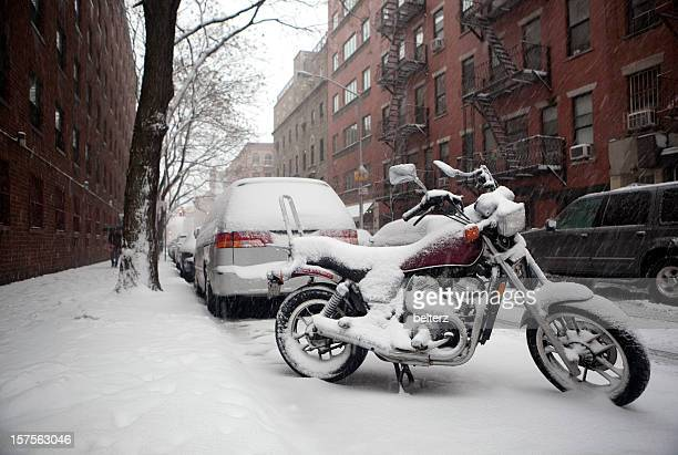 snow covered NYC street
