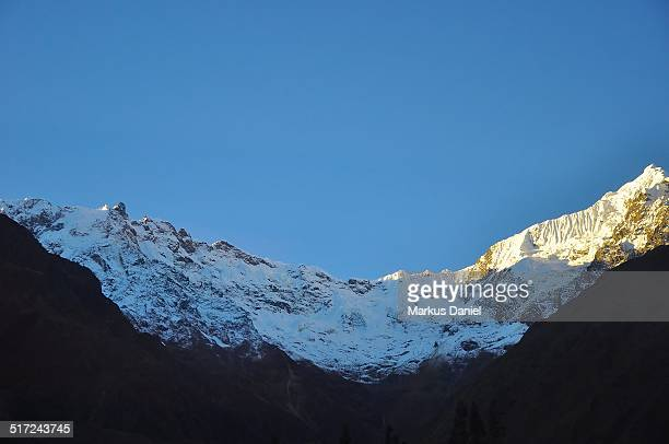 Snow covered Peaks in Urubamba Vallery, Peru