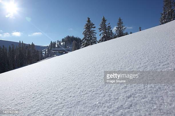 Snow covered ski slope, Bavaria