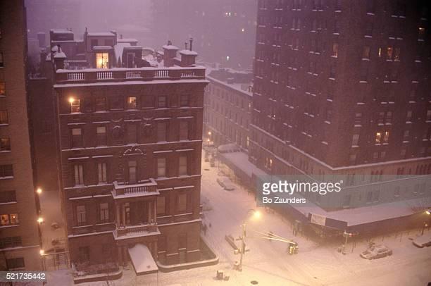 Snow covered Street scene