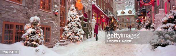 Snow Covered Streets of Quebec