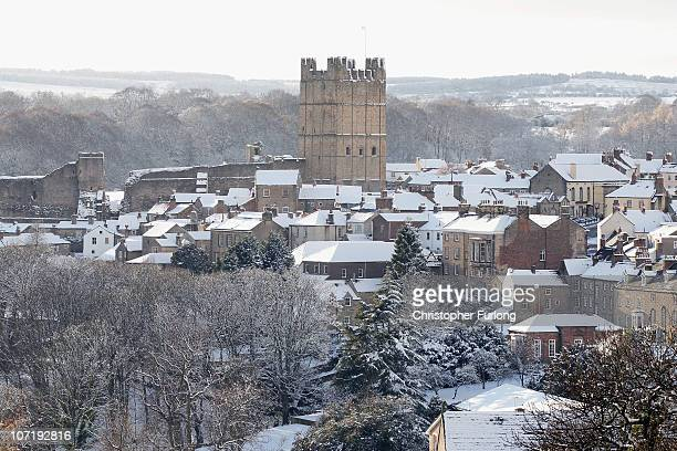 Snow covers the market town of Richmond in North Yorkshire on November 29 2010 in Richmond United Kingdom More snow fell overnight affecting Scotland...