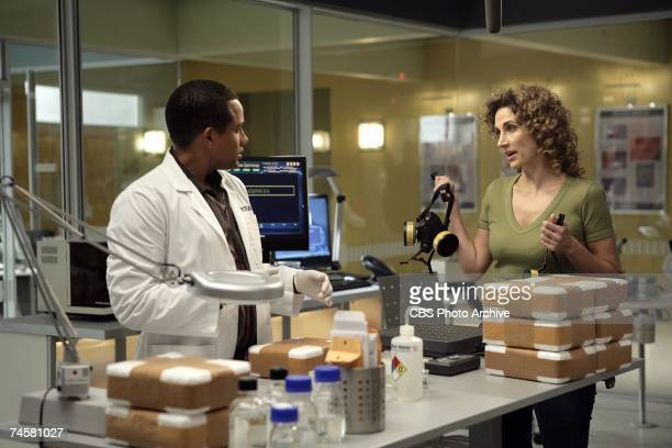 Snow Day Stella and Dr Sheldon Hawkes on CSI NY Wednesday May 16 on the CBS Television Network