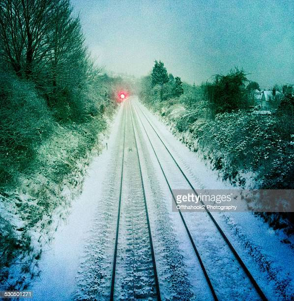 Snow dusted tracks