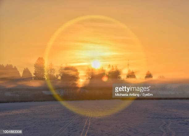 snow field against sky during sunset - anfang stock pictures, royalty-free photos & images