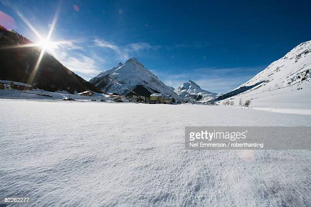 snow field, galtur, austria, europe - snowfield stock pictures, royalty-free photos & images