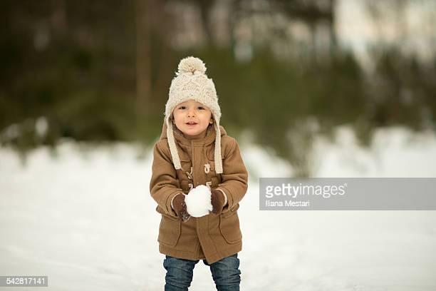 snow fun - 指なし手袋 ストックフォトと画像