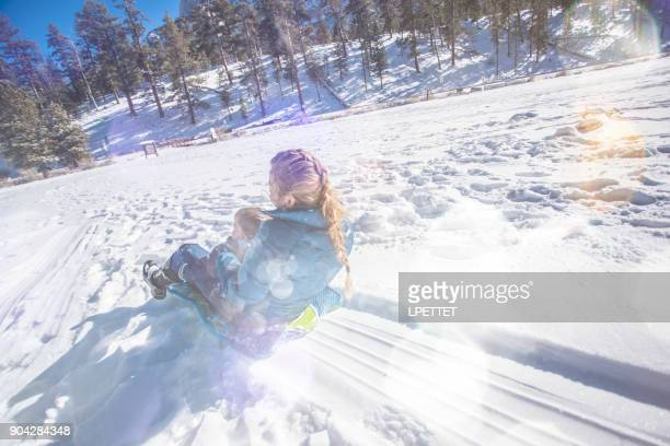 snow fun - mt charleston stock photos and pictures