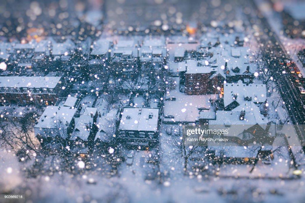 Snow Globe of Winter Wonder City : Stock Photo