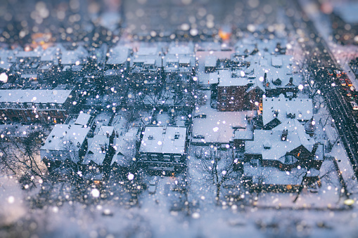 Snow Globe of Winter Wonder City - gettyimageskorea