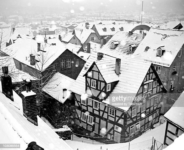 Snow in Marburg, Germany