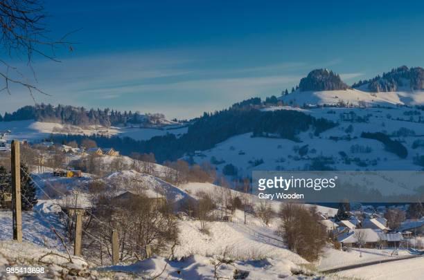 snow in the pre-alps - pre season bildbanksfoton och bilder