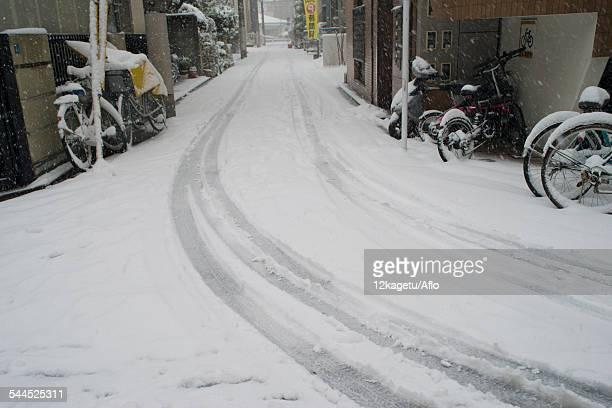 Snow in Tokyo, Japan