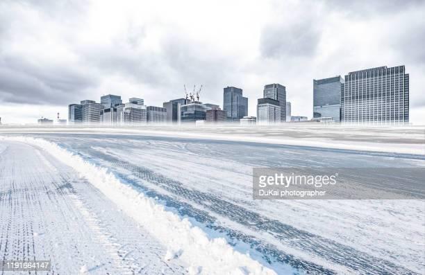 snow in tokyo, - 道 ストックフォトと画像