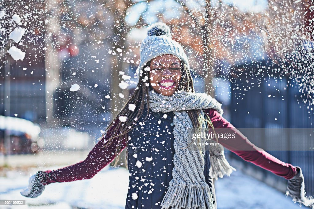 Snow is a celebration of life : Stock Photo
