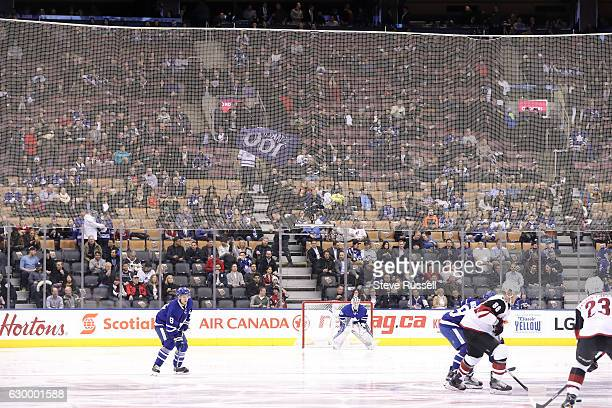 TORONTO ON DECEMBER 15 Snow kept many fans away from the start of the game as the Toronto Maple Leafs play the Arizona Coyotes at the Air Canada...