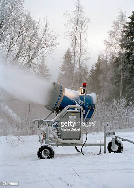 Snow machine making snow
