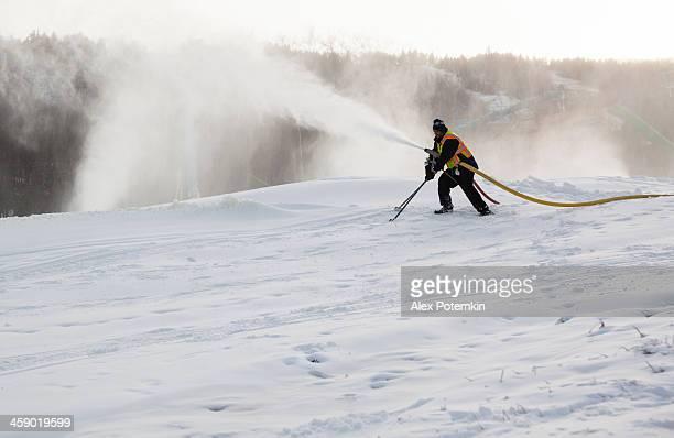 Snow rendre dans le ciel resort Camel Back, Pocono, Pennsylvanie