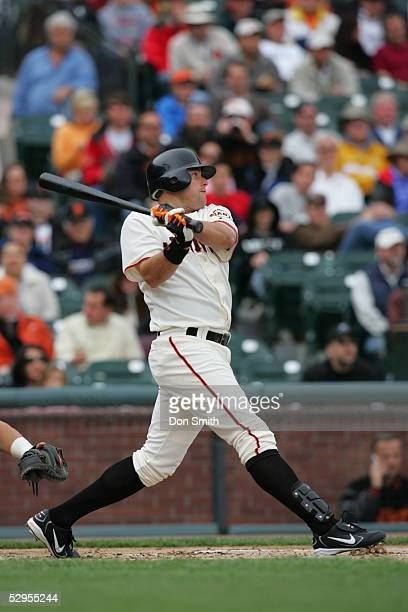 T Snow of the San Francisco Giants bats during the game against the San Diego Padres at SBC Park on April 27 2005 in San Francisco California The...