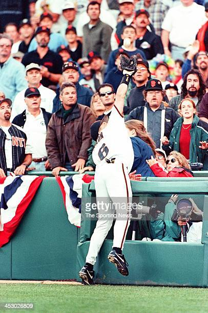 T Snow of the San Francisco Giants during Game Three of the Division League Series against the Florida Marlins on October 3 1997 at 3Comm Park in San...