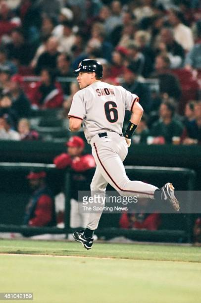 T Snow of the San Francisco Giants during the game against the St Louis Cardinals on June 5 1998 at Busch Stadium in St Louis Missouri