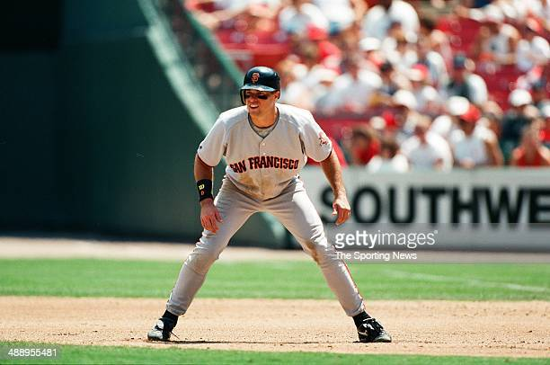 T Snow of the San Francisco Giants runs against the St Louis Cardinals at Busch Stadium on July 19 1997 in St Louis Missouri The Cardinals beat the...