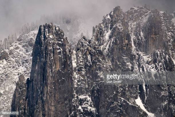 snow on sentinel rocks - don smith stock pictures, royalty-free photos & images