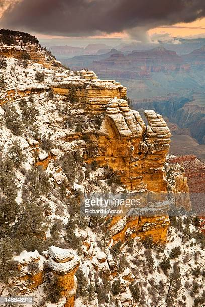 Snow on South Rim at Mather Point.